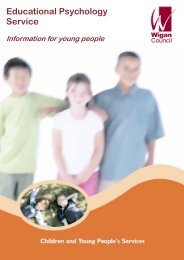 information for young people - Wigan Schools Online