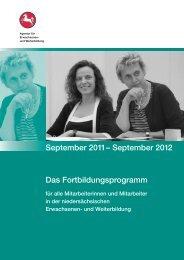 September 2012 Das Fortbildungsprogramm - Bundesverband ...