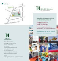 Notfallmedizin akut & aktuell: - HELIOS Kliniken GmbH
