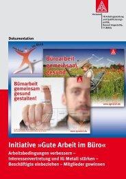 Initiative »Gute Arbeit im Büro« - IG Metall - Wiesbaden - Limburg