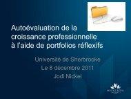 Autoévaluation de la croissance professionnelle à l'aide de ...