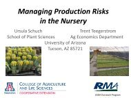 Managing Production Risks in the Nursery