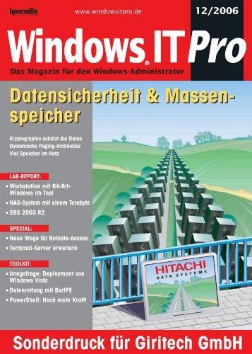 Windows IT Pro 12/2006 - Giritech.de