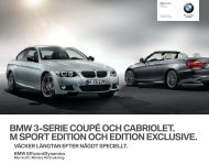 bmw 3-serie coupé och cabriolet. m sport edition och edition exclusive.