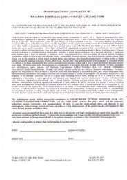 LIABILITY WAIVER & RELEASE FORM - Dreamchasers Outdoor ...