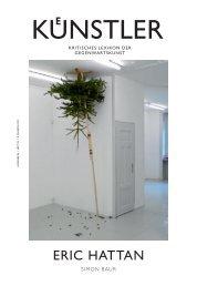 eric hattan - Zeit Kunstverlag