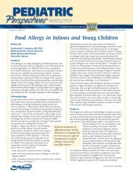 Food Allergy in Infants and Young Children - Mead Johnson Nutrition