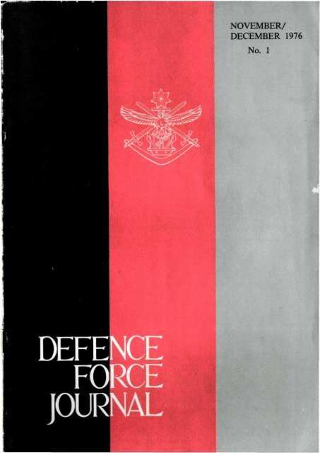 ISSUE 1 : Nov/Dec - 1976 - Australian Defence Force Journal