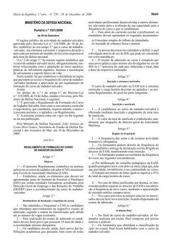 9049 MINISTÉRIO DA DEFESA NACIONAL