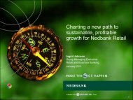 Charting a new path to sustainable, profitable growth for Nedbank ...