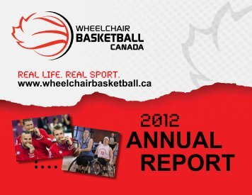 2012 Annual Report - Wheelchair Basketball Canada