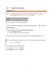 2.6.1 Lineární lomená funkce
