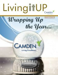 Wrapping Up the Year... - Camden Property Trust