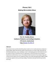 Plenary Talk I Making Microrobots Move
