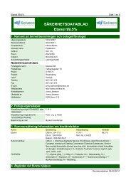 SÄKERHETSDATABLAD Etanol 99,5% - Apoteket