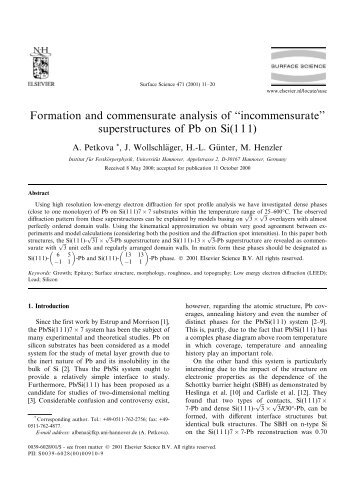 superstructures of Pb on Si(111)