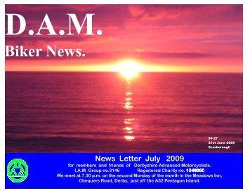 D.A.M. July News Letter.pub - Derbyshire Advanced Motorcyclists