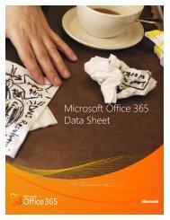 Microsoft Office 365 Data Sheet - New Horizons Computer Training