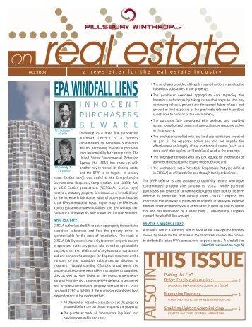 RE Newsletter (Fall 2003) [Nov. 12].qxd - Pillsbury Winthrop Shaw ...