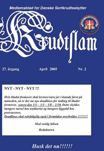 Krudtslam Nr.2-2005 - Forbundet Af Danske Sortkrudtskytteforeninger