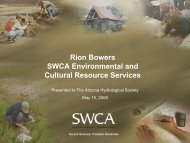 PDF Of Presentation - 0.5 MB - Arizona Hydrological Society