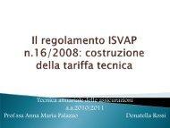 La costruzione della tariffa tecnica nell'RC Auto - Docente.unicas.it
