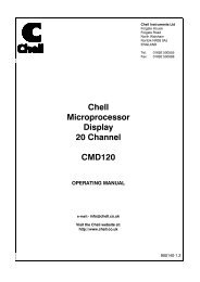 to download the CMD120 manual - Chell Instruments Limited