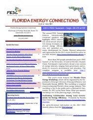 2011 FESC Summit—Sept. 28-29 at UF - Florida Energy Systems ...