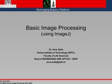 Basic Image Processing (using ImageJ) - BioImaging and Optics ...