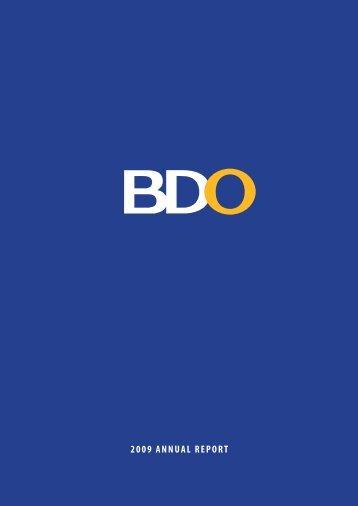 2009 BDO Annual Report Description