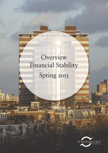 Overview Financial Stability Spring 2013 - De Nederlandsche Bank