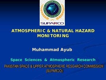 Atmospheric and Natural Hazard Monitoring - APRSAF