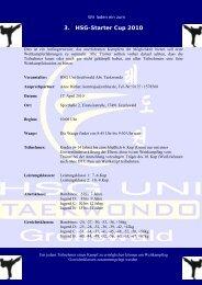 3. HSG-Starter Cup 2010 - TUMV