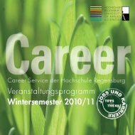 Career Service WS-2010 - Hochschule Regensburg