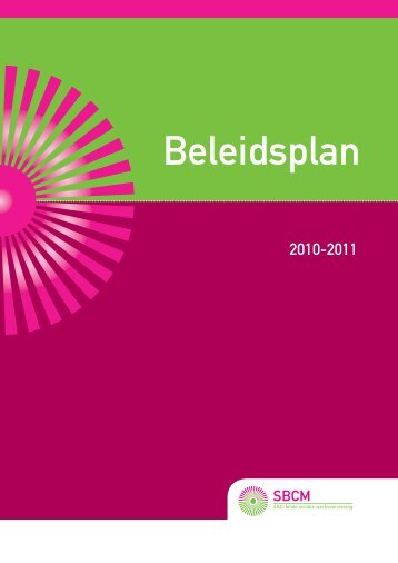 Download het SBCM beleidsplan 2010-2011