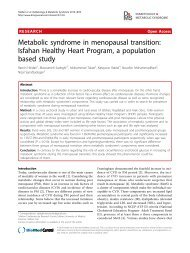 Metabolic syndrome in menopausal transition - Diabetology ...
