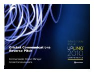 Cricket Communications Reverse Pitch Reverse Pitch - Uplinq