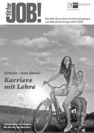 Karriere mit Lehre - IHK Niederbayern