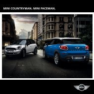 MINI Countryman. MINI PACEMAN.
