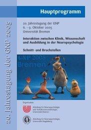20. Jahrestagung der GNP 200520. Jahrestagung der GNP 2005