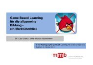 Game Based Learning - wbv-Fachtagung