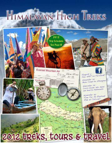 2012 Treks, tours & travel - Himalayan High Treks