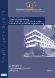 Prävention und Behandlung posttraumatischer Störungsbilder im ...