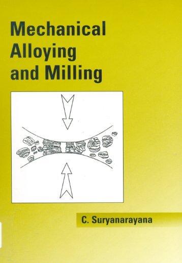 Mechanical Alloying andMilling - Tecnun