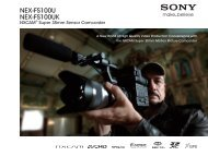 Download the NEX-FS100U Brochure - Sony