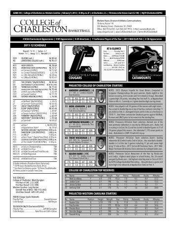 player profiles - College of Charleston Athletics