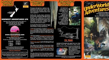 to download our PDF brochure - Cave Rafting & Adventure Caving