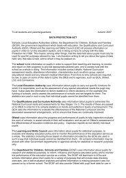 Fair processing notice – suggested text - Sutton Grammar School
