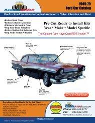 1949-79 Ford Car Catalog Pre-Cut Ready to Install Kits Year • Make ...