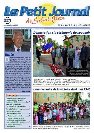Le Petit Journal de Saint-Jean n°207 - Saint Jean Cap Ferrat